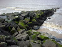 Sea Defence Boulders, Georgetown, Guyana